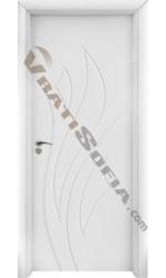Интериорна врата 033-P бяла