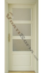 Интериорна врата Madrid крем остъклена